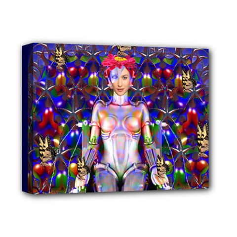 Robot Butterfly Deluxe Canvas 14  X 11  by icarusismartdesigns