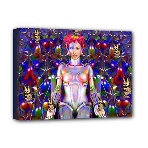 Robot Butterfly Deluxe Canvas 16  X 12   by icarusismartdesigns