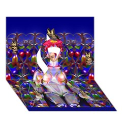 Robot Butterfly Ribbon 3d Greeting Card (7x5)  by icarusismartdesigns