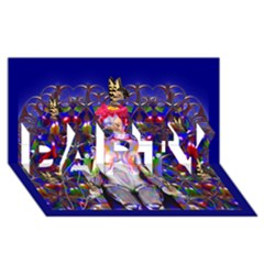 Robot Butterfly Party 3d Greeting Card (8x4)  by icarusismartdesigns