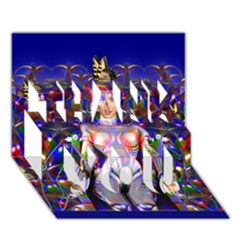 Robot Butterfly Thank You 3d Greeting Card (7x5)  by icarusismartdesigns