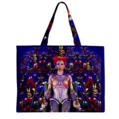 Robot Butterfly Tiny Tote Bags by icarusismartdesigns