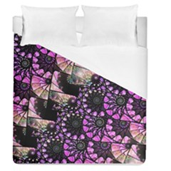 Hippy Fractal Spiral Stacks Duvet Cover Single Side (full/queen Size) by KirstenStar
