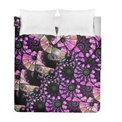 Hippy Fractal Spiral Stacks Duvet Cover (twin Size) by KirstenStar