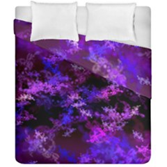 Purple Skulls Goth Storm Duvet Cover (double Size) by KirstenStar