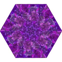 Purple Square Tiles Design Mini Folding Umbrellas by KirstenStar
