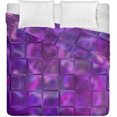 Purple Square Tiles Design Duvet Cover (king Size) by KirstenStar