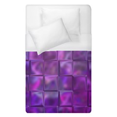 Purple Square Tiles Design Duvet Cover Single Side (single Size) by KirstenStar