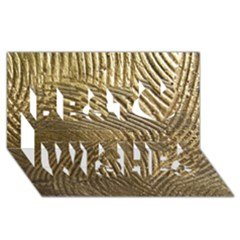 Brushed Gold 050549 Best Wish 3d Greeting Card (8x4)  by AlteredStates