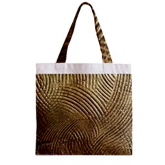 Brushed Gold 050549 Zipper Grocery Tote Bags by AlteredStates