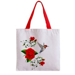 Red Roses Decor Clipart Grocery Tote Bags by AlteredStates