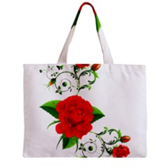 Red Roses Decor Clipart Tiny Tote Bags by AlteredStates