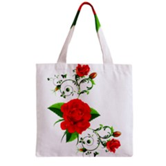 Rose Garden Grocery Tote Bags by AlteredStates