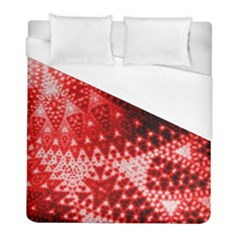 Red Fractal Lace Duvet Cover Single Side (twin Size) by KirstenStar