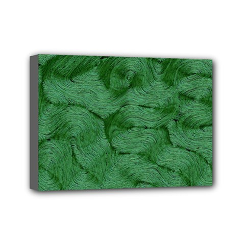 Woven Skin Green Mini Canvas 7  X 5  by InsanityExpressed