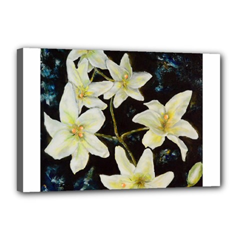 Bright Lilies Canvas 18  X 12  by timelessartoncanvas
