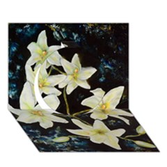 Bright Lilies Circle 3d Greeting Card (7x5)  by timelessartoncanvas
