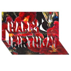 Red Orchids Happy Birthday 3d Greeting Card (8x4)  by timelessartoncanvas