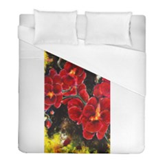 Red Orchids Duvet Cover Single Side (twin Size) by timelessartoncanvas