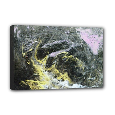 Black Ice Deluxe Canvas 18  X 12   by timelessartoncanvas