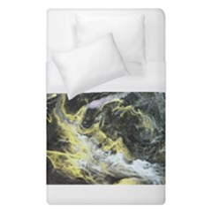 Black Ice Duvet Cover Single Side (single Size) by timelessartoncanvas