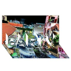 Colour Street Top Party 3d Greeting Card (8x4)  by InsanityExpressed