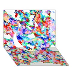 Soul Colour Light Heart 3d Greeting Card (7x5)  by InsanityExpressed