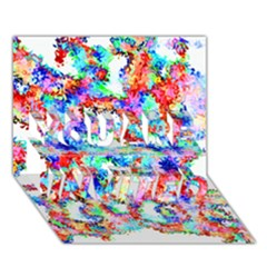 Soul Colour Light You Are Invited 3d Greeting Card (7x5)  by InsanityExpressed