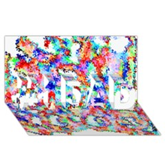 Soul Colour Light #1 Dad 3d Greeting Card (8x4)  by InsanityExpressed