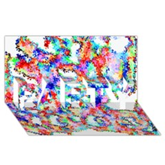 Soul Colour Light Party 3d Greeting Card (8x4)  by InsanityExpressed