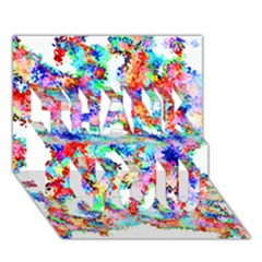 Soul Colour Light Thank You 3d Greeting Card (7x5)  by InsanityExpressed