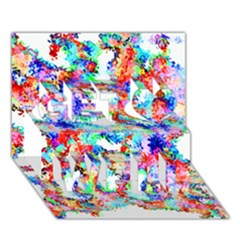 Soul Colour Light Get Well 3d Greeting Card (7x5)  by InsanityExpressed