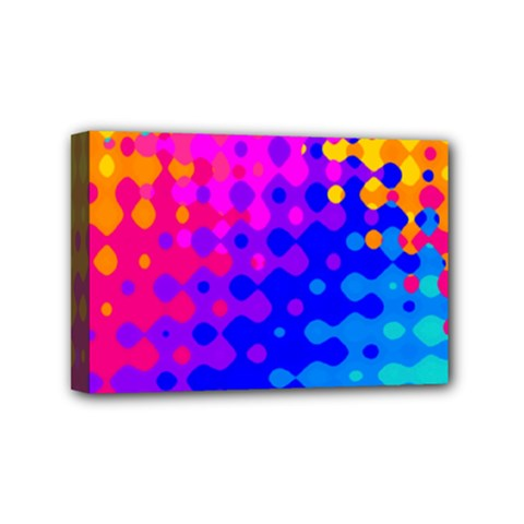 Totally Trippy Hippy Rainbow Mini Canvas 6  X 4  by KirstenStar