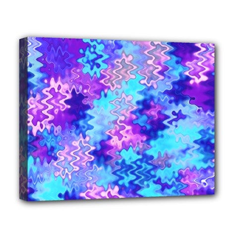 Blue And Purple Marble Waves Deluxe Canvas 20  X 16   by KirstenStar