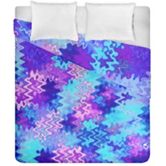 Blue And Purple Marble Waves Duvet Cover (double Size) by KirstenStar