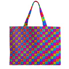 Crazy Yellow And Pink Pattern Zipper Tiny Tote Bags by KirstenStar