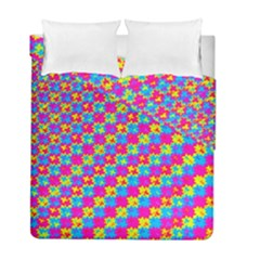 Crazy Yellow And Pink Pattern Duvet Cover (twin Size) by KirstenStar