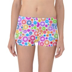 Candy Color s Circles Boyleg Bikini Bottoms