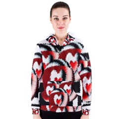 Heart Time 3 Women s Zipper Hoodies
