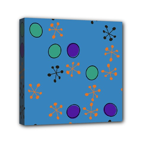 Circles And Snowflakes Mini Canvas 6  X 6  (stretched) by LalyLauraFLM