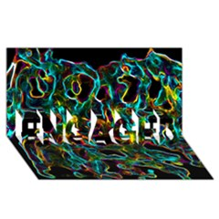 Soul Colour Engaged 3d Greeting Card (8x4)  by InsanityExpressedSuperStore