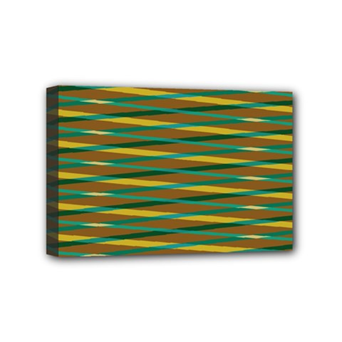 Diagonal Stripes Pattern Mini Canvas 6  X 4  (stretched) by LalyLauraFLM