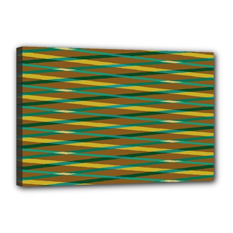 Diagonal Stripes Pattern Canvas 18  X 12  (stretched) by LalyLauraFLM