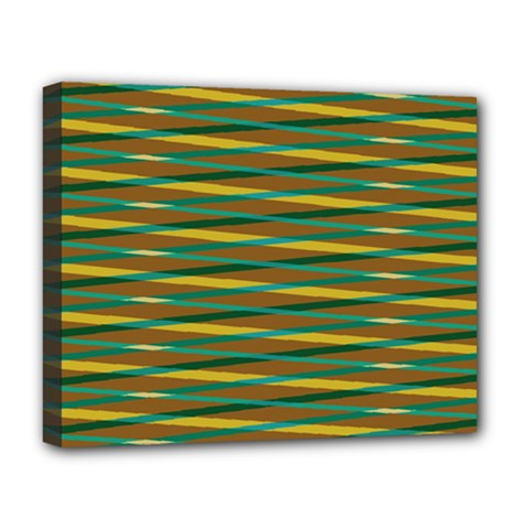 Diagonal Stripes Pattern Deluxe Canvas 20  X 16  (stretched) by LalyLauraFLM