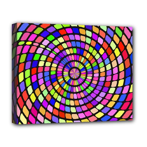 Colorful Whirlpool Deluxe Canvas 20  X 16  (stretched) by LalyLauraFLM