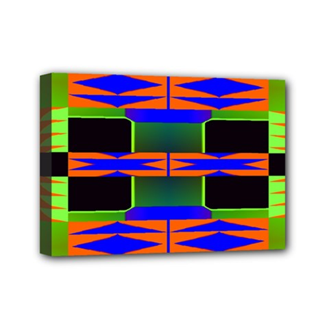 Distorted Shapes Pattern Mini Canvas 7  X 5  (stretched) by LalyLauraFLM