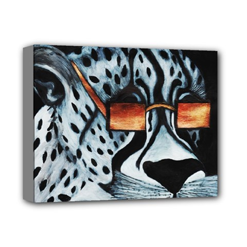 Cool Cat Deluxe Canvas 14  X 11  by JUNEIPER07