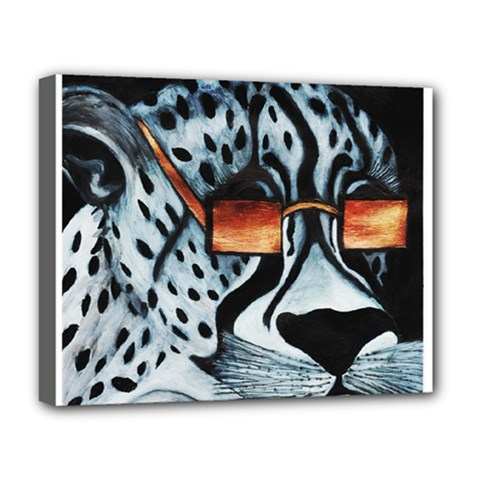 Cool Cat Deluxe Canvas 20  X 16   by JUNEIPER07