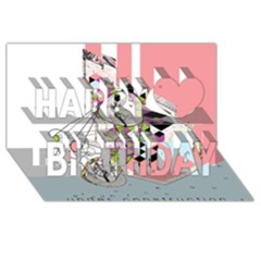 Under Construction Happy Birthday 3d Greeting Card (8x4)  by infloence