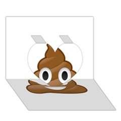 Poop Heart 3d Greeting Card (7x5)  by redcow
